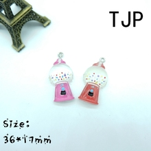 Kawaii Chewing gum machine Charms Pendants for DIY decoration neckalce earring key chain Jewelry Making(China)