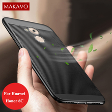 MAKAVO Case For Huawei Honor 6C 360 Protection Hollow Grid Matte Hard Cover For Honor 6C Huawei Nova Smart Phone Cases(China)