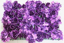 SPR Free Shipping-purple- rose flower wall wedding backdrop arch floral table centerpiece road lead market decoration(China)