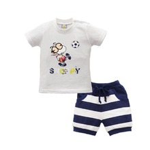 2017 New Arrival Baby Boys Summer Leisure Beach Clothing Sets Children T shirt+Shorts Pants Outfits Fashion Kids Clothes