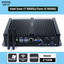 Portable Pc Win7/8/10 Intel Core i7 5550U 2*RS232 ULHD 4K High Grade Fanless industrial PC Core i3 5005U Gaming Tablet Computer(China)