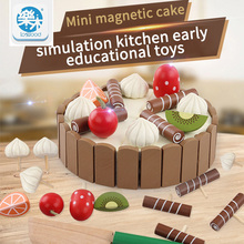 Wooden Simulation Cake and See Every Toy Size 11 cm * 3 cm To The Child's Birthday Present Montessori Interests Intellectual Toy(China)