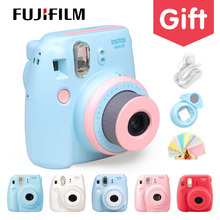 Genuine Compact Fuji Fujifilm Instax Mini 8 Camera Instant Printing Regular Film Snapshot Shooting Photos white red purple pink(China)