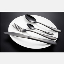 HOT!!!Stainless Steel Black Gold Western Food Dinnerware Cutlery Fork Knife Tableware Cutlery Set Best Gift(China)