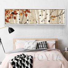 Birch Tree Elk Large Canvas Wall Art Bedroom Decor Print Van Gogh Blossoming Almond Tree Wall Pictures For Living Room No Frame