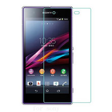 9H 0.3mm Screen Protector  Toughened  for Sony Xperia M2 M4 M5 Aqua T3 C4 E3 E4 Z3 Z5 Compact Protective  Tempered Glass case