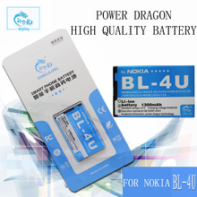 Power Dragon Battery For Nokia E66 C5-03 301 5530 5730 E75 5250 1300mAh BL4U High Quality Battery Replacement Free Shipping Gift(China)