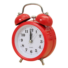 Portable Fashion Classic Silent Double Bell Alarm Clock Quartz Movement Bedside Night Light Best Quality red(China)