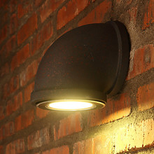 Retro Loft Style Industrial Vintage LED Wall Light Fixtures Antique Metal Water Pipe Lamp Bedside Wall Sconce Lampara Pared(China)