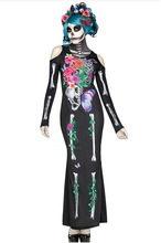 Ghost Bride Series Cosplay Costumes Sexy Sugar Skull Dia Flower Fairy Halloween Adult Scary Skull Vampire Queen Fancy Dress