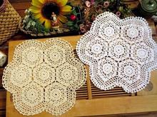 Modern Lace cotton kids placemat cup coaster mug holder kitchen handmade table place mat cloth round Crochet doily dining pad
