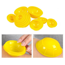 Random Color 12pcs Mini Silicone Travel Medical Vacuum Cupping Cups Health Care Body Massage Promote Blood Circulation C785(China)