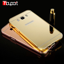 Mirror Cases For Samsung J710F Plated Aluminum Frame + Mirror Acrylic PC Cover Case For Samsung Galaxy J7 Duos (2016) SM-J710