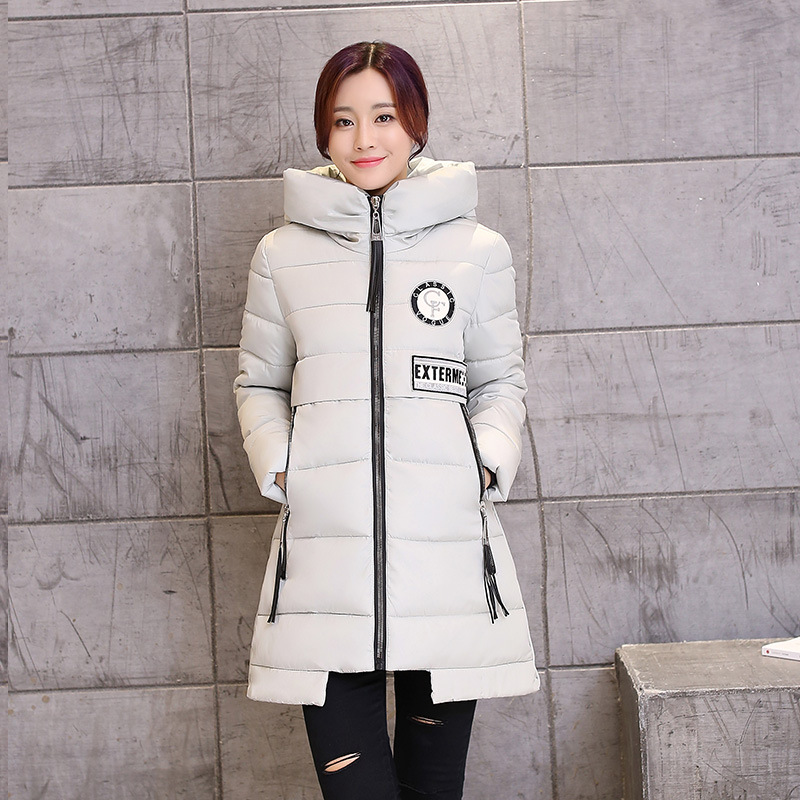 Fashion Women Down Coat Jacket Slim Medium Length Woman Down Parka Winter Plus Size Coat Thick Cotton Outwear MF27Одежда и ак�е��уары<br><br><br>Aliexpress