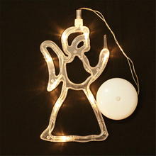 Angel Stars Bells Activities Decorative Lights Festival Family Activities Decoration(China)