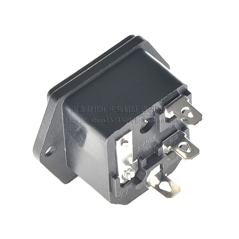 2pcs 10A//250A AC power socket //outlet//jack with fuse base 5*20MM