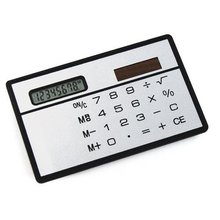 10pcs/lot Convenient Solar Power Credit Card Sized Pocket Calculator Travel New UK Sale(China)