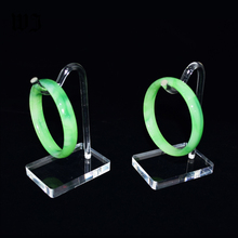 Acrylic Hook-shaped Bangle Bracelet Pendants Chain Jewellery Holder Display Hand Jewelry Organizer Clear Bracelet Hanger Stand(China)