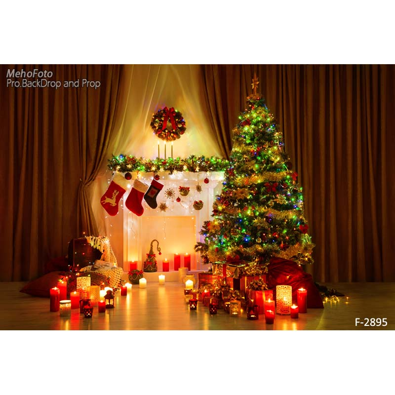 New Christmas Custom Photography Background Children Backdrops for Photo Studio F-2895<br>