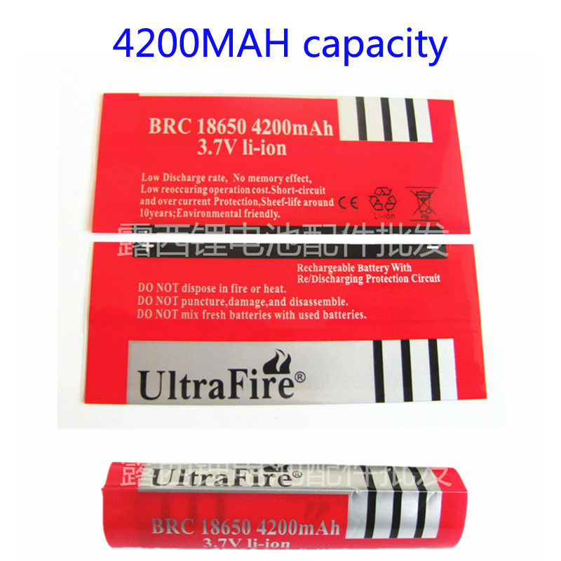 18650 Heat Shrinkable Casing Pvc Red 4200 Mah Lithium-ion Batteries Battery Capacity Of Skin Contraction Heat Shrinkable Film<br><br>Aliexpress