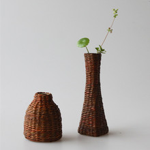 Handmade  Flower Vase For Home Decoration Rattan weave High Quality Wedding Decoration Vase Gift Crafts Basket
