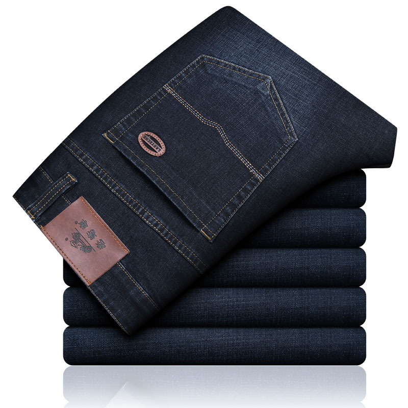 LAOYECHE BRAND  Mens Casual Denim Jeans High Quality Stretch Regular Fit Male Blue Pants Brand Cotton Mens Jeans Size 28-40