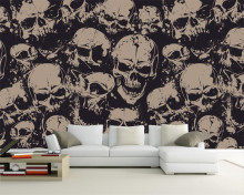 Beibehang Custom wallpaper high-end character skull art background wall living room bedroom TV background murals 3d wallpaper(China)