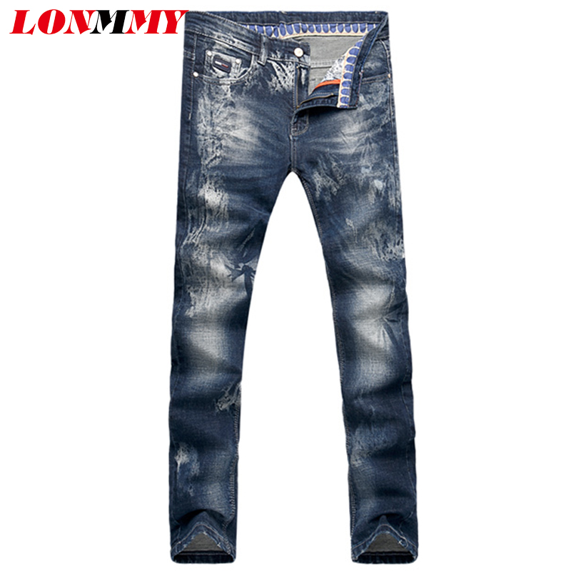 LONMMY 28-36 Mens jeans Slim fit Straight Elasticity Skinny jeans mens Denim overalls men Casual Fashion New 2017 SpringÎäåæäà è àêñåññóàðû<br><br>