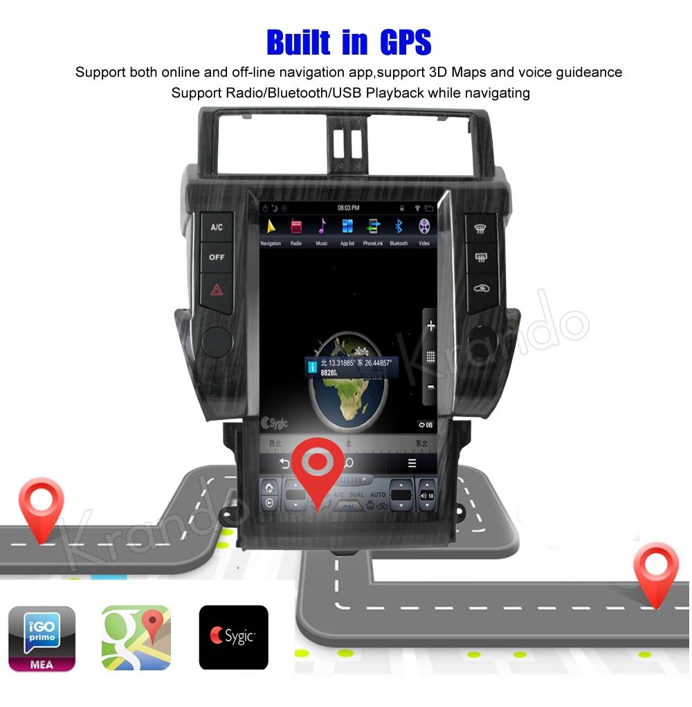 Krando toyota prado android car radio multimedia navigation with GPS system (5)