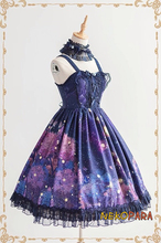 Stary Rain Beautiful Made Lolita JSK Suspender Dress Hydrangea Flower Fancy Gorgerous Dress with Waist Belt