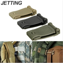 JETTING 26mm  Practical Outdoor Molle Strap Buckle Backpack Bag Webbing Connecting Buckle Clip Black/Khaki EDC Tool Accessories