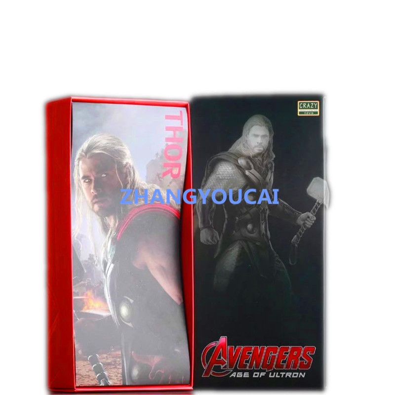 Crazy Toys Acengers Age of Ultron Thor PVC Action Figure Collectible Model Toy 12 RETAIL BOX  zy013<br><br>Aliexpress