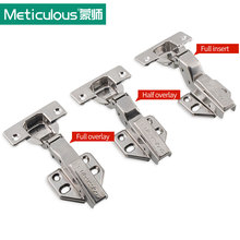 Meticulous Hydraulic Stainless Steel Cabinet Hinge Damper Buffer Soft Close Furniture Door Hinge Copper Core Kitchen Cupboard(China)