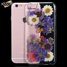 KISSCASE True Flower Case For iphone 6 6s plus Case Natural True Rose Petal Ultra Thin Clear Plastic Cover For Apple iPhone 6 6s