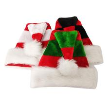 Double Plush Layer Christmas Decoration New Style Merry Christmas Adult Hats Home Bar Party Perform Porps For Xmas Gifts Supplie(China)