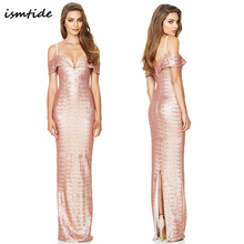 Buy Maxi Dress Women Party Club Elegant Maxi Dress 2018 New Sexy Dresses Gold Sequined Long Deep V Neck Backless Ruffles Dress for $26.08 in AliExpress store