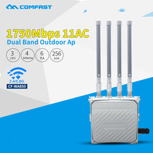 1750Mbps gigabit outdoor wireless AP 802.11AC 5.8Ghz high power wi-fi router WiFi Signal Amplifier with 6PA 4*8dBi FRP antennas(China)
