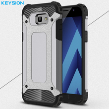 Keysion Case for Samsung Galaxy A7 2017 Back Cover TPU + PC Hard Hybrid Shockproof Phone Bags for Samsung A720f A720 SM-A720(China)