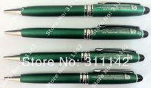 CLASSICAL GREEN TWIST HIGH QUALITY COLLECTION METAL PEN logo printing free shipping by Fedex 500pcs/lot