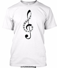 Jzecco New Design T Shirt Men Brand Clothing Fashion Piano Keyboard Amp Treble Clef Music Note T-Shirt Male Quality Tees(China)
