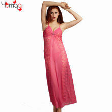 Brand Black Pink Erotic Long Dress Lingerie Transparent Sexy Wedding Lingerie Sleepwear Lace Sexy Lingerie Women Exotic Dress(China)