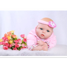 Lovely Reborn Silicone Baby Dolls Newborn Baby Bonecas Toys Girls Gift,20 Inch Lifelike Reborn Dolls Babies Educational Toys