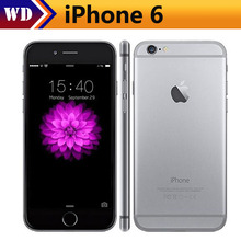 Unlocked iPhone 6 1GB RAM 4.7inch IOS Dual Core 1.4GHz phone 8.0 MP Camera 3G WCDMA 4G LTE Used 16/64/