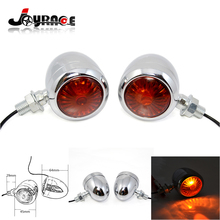 Chrome Universal Bullet Turn Signals Light For Motorcycle Motorbike Moto dirt bike Offroad ATV Cruiser Chopper Cafe Racer
