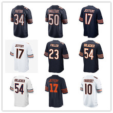 Youth's Mitchell Trubisky Walter Payton Alshon Jeffery Jordan Howard Walter Payton Leonard Floyd Kyle Long Custom Bears Jersey(China)