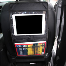 Car Backseat Organizer Car Multi-Pocket Back Seat Storage Bag Organizer Phone Pocket Pouch for Books Tablet Mobile Drinks Tissue(China)