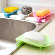 EZLIFE Soap Plate Skid Resistance Soap Dish Drain Cleaning Sponge Holder Kitchen Case Storage Bath Accessories MS065