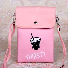 PU leather letter printing cute children school bags kids crossbody handbags feminina mini money pouches for kidergarten girls