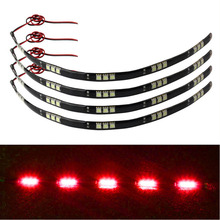 4x 30cm 5050 15 LED Car Trucks Flexible Waterproof Red Light Strips Red for cars  home  automotive #1
