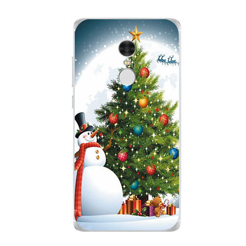 sled snowman Hanging gifts Case For Xiaomi Redmi 3 3S 4A 4X 4 4S Note 3 5A 4 4X Case Back cover christmas navidad noel